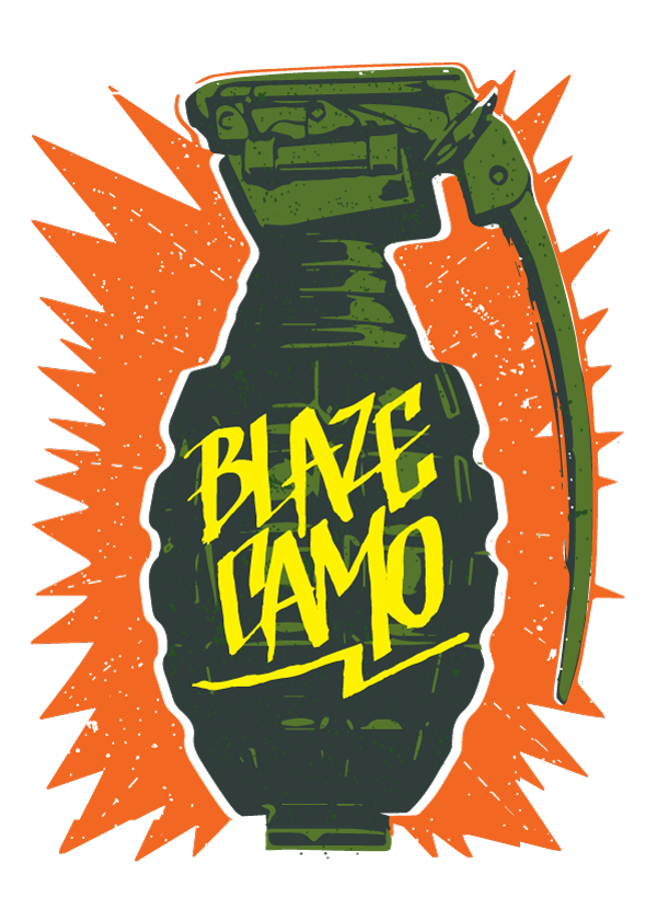 Blaze Camo Kiss Cut Sticker