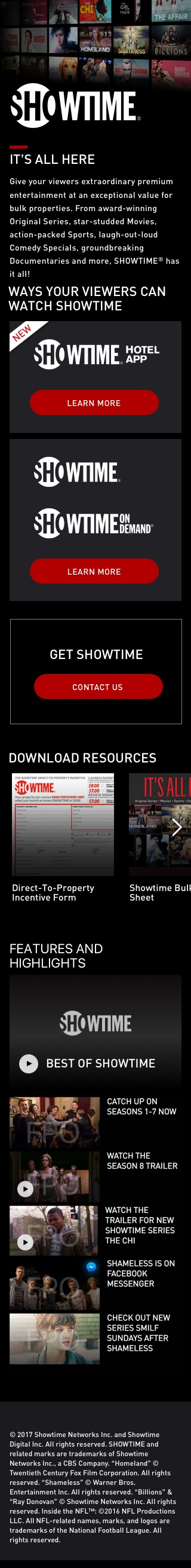 Showtime Bulk Page Iphone